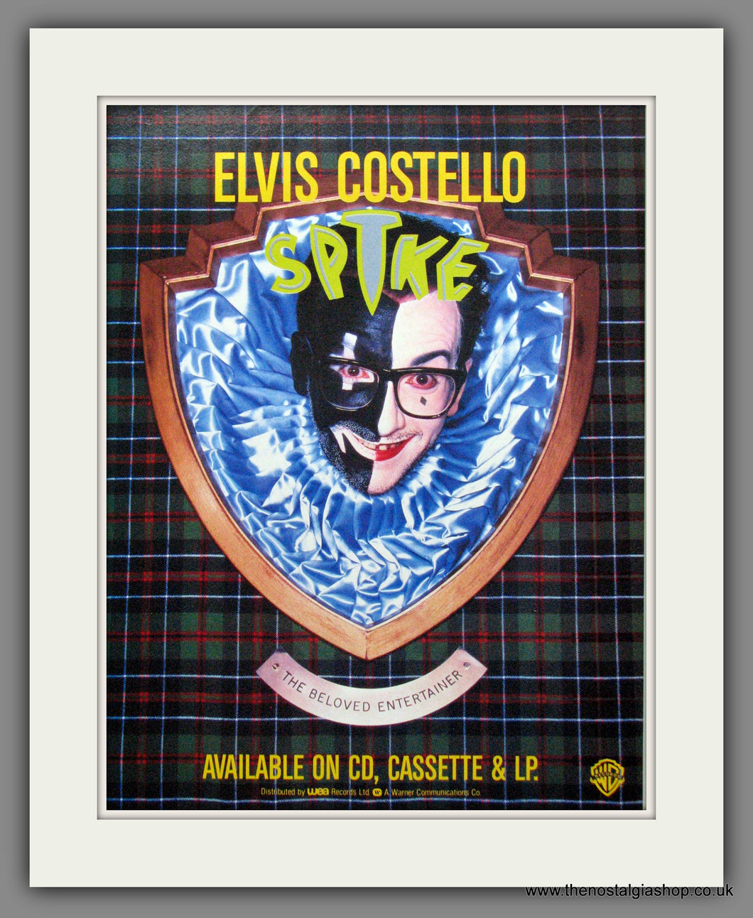Elvis Costello - Spike. Original Advert 1989 (ref AD50207)