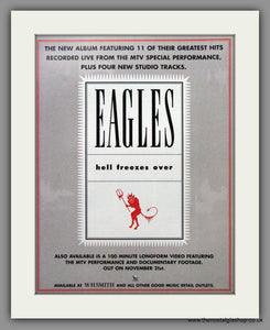 Eagles (The) Hell Freezes Over. Set of 2 Original Adverts 1995 (ref AD50234)
