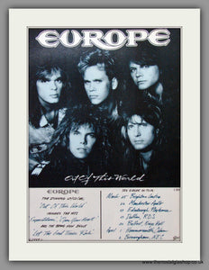 Europe, Out of This World. 2 x Original Adverts 1989 (ref AD50246)