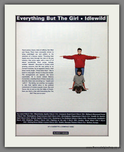 Everything But The Girl - Idlewild Plus Tour Dates. Original Advert 1988 (ref AD50260)