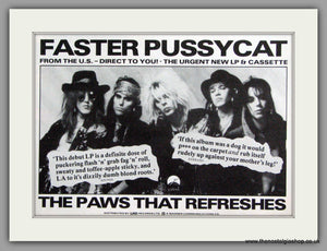 Faster Pussycat.  Vintage Advert 1987 (ref AD50382)