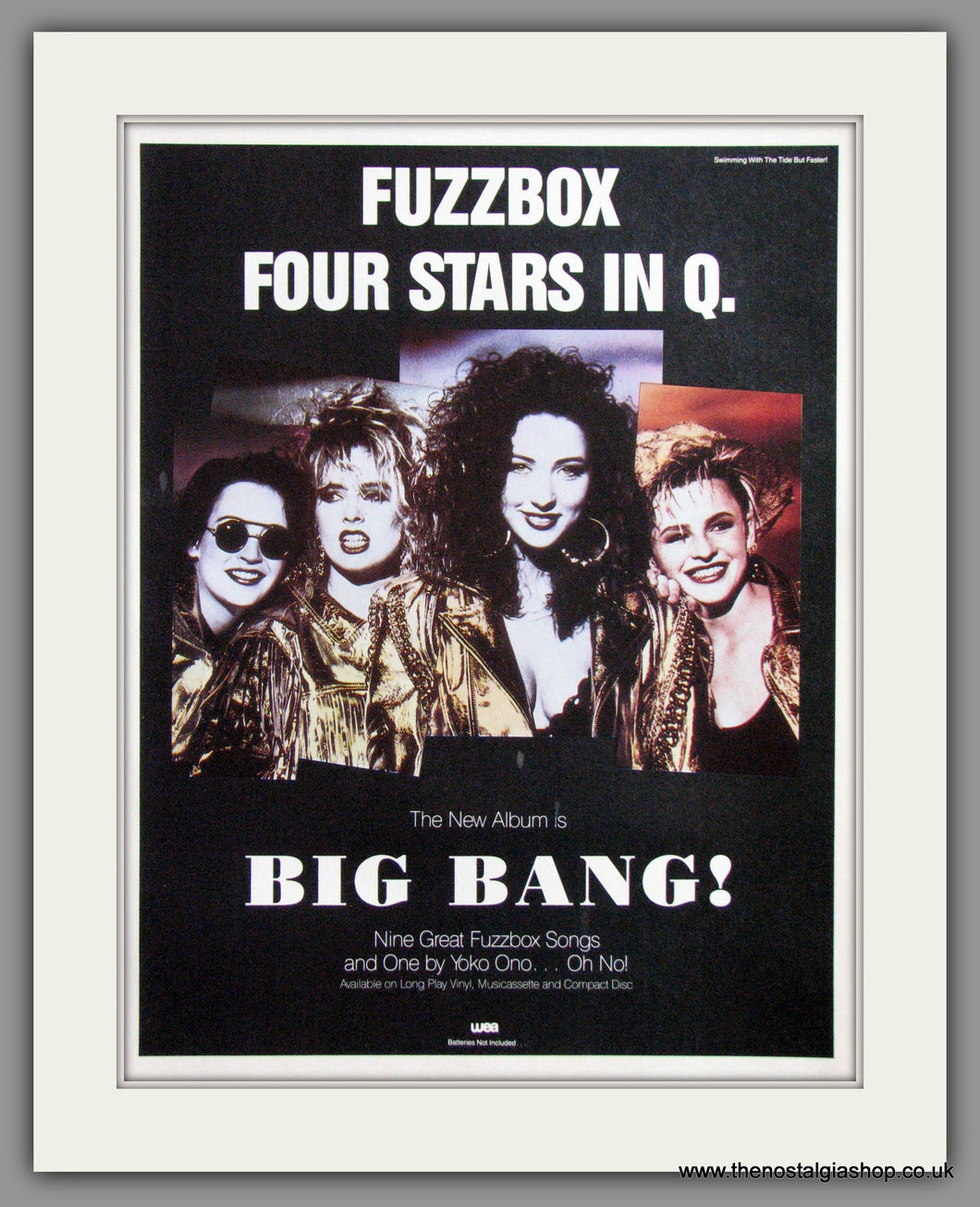 Fuzzbox Four Stars In Q - Big Bang. Vintage Advert 1989 (ref AD50451)