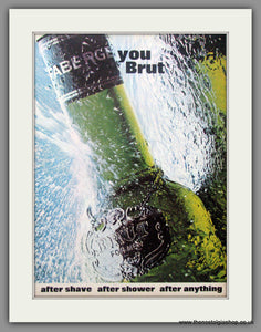 Brut After Shave by Faberge. 1970 Original Advert (ref AD51147)