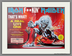 Iron Maiden. A Real Live One. Vintage Advert 1993 (ref AD50533)