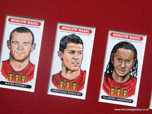 Manchester United. Moscow Magic. Football Card Set