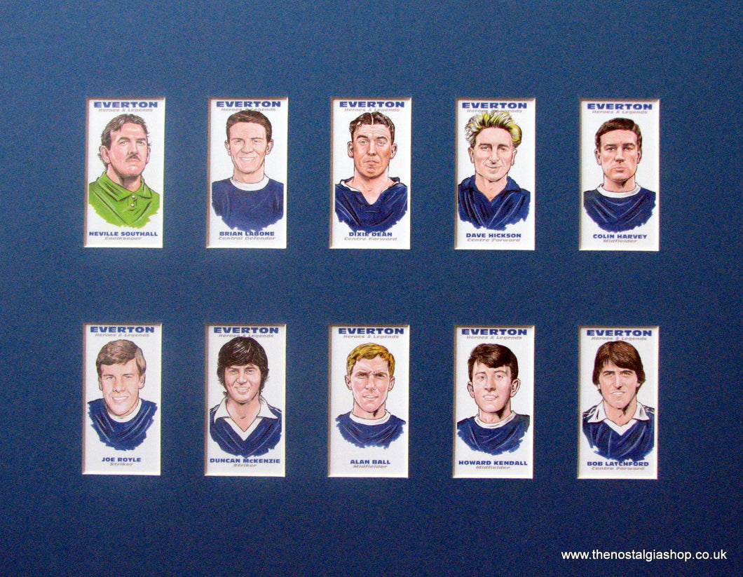 Everton Legends. Football Card Set