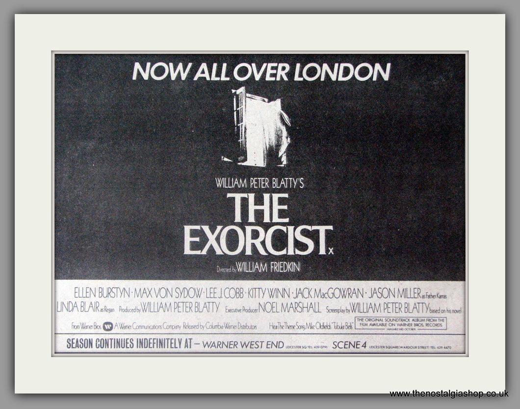 The Exorcist. Vintage Advert 1974 (ref AD50339)
