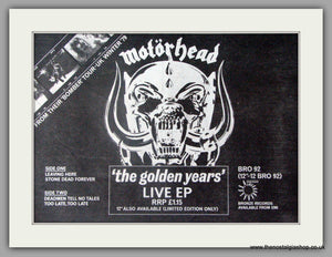 Motorhead. The Golden Years. Vintage Advert 1980 (ref AD50342)