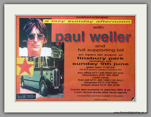 Paul Weller, Finsbury Park 9th June 1996. Vintage Advert (ref AD50439)