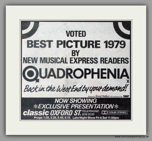 Quadrophenia. Best Picture Vintage Advert 1980 (ref AD50469)