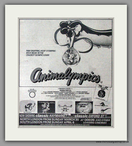 Animalympics. Original advert 1980 (ref AD50507)