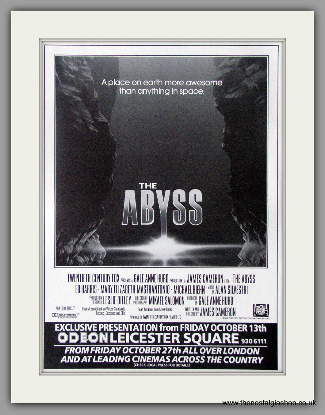 Abyss (The), Original Advert 1989 (ref AD50545)