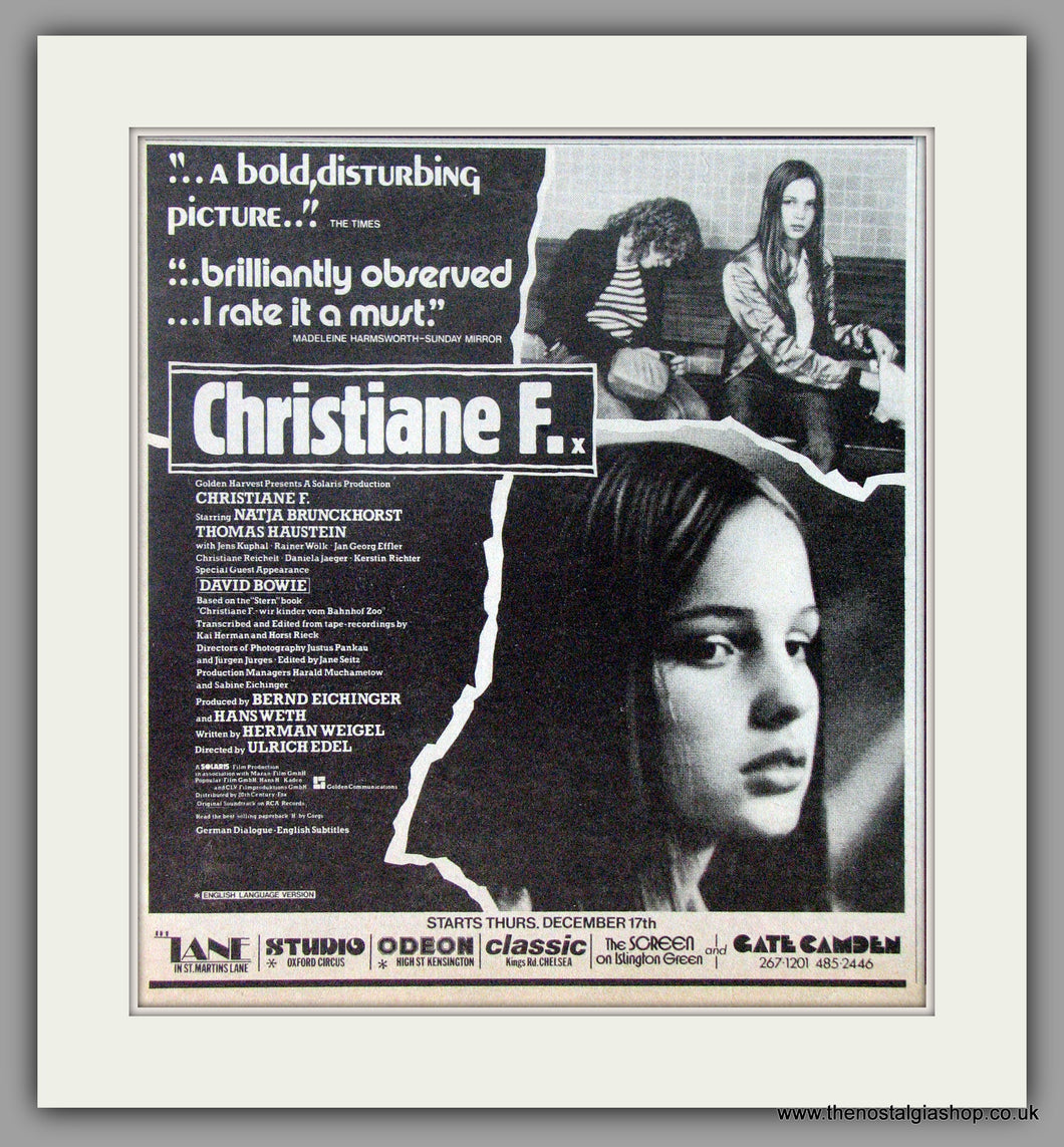Christine F. Original Advert 1981 advert (AD50620)
