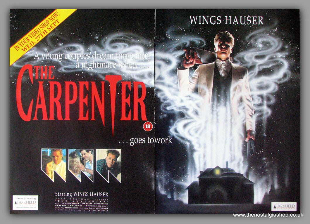 Carpenter (The). Double Original Advert 1989 (AD50645)