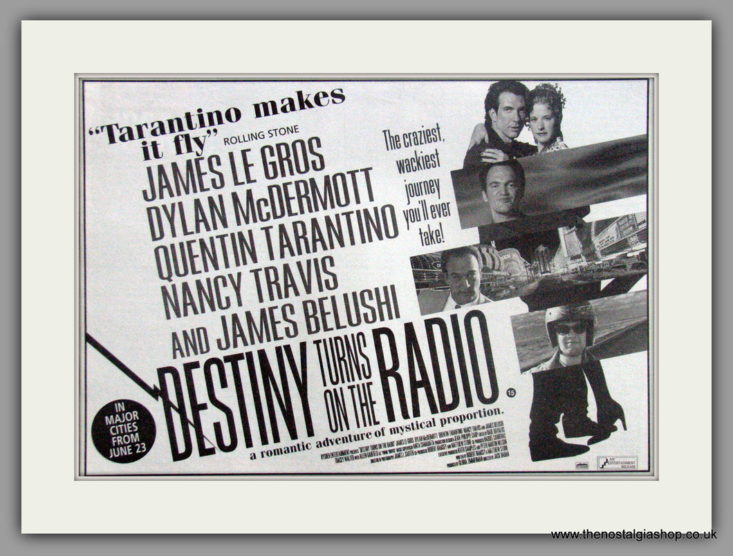 Destiny Turns On The Road. Original advert 1995 (AD50678)