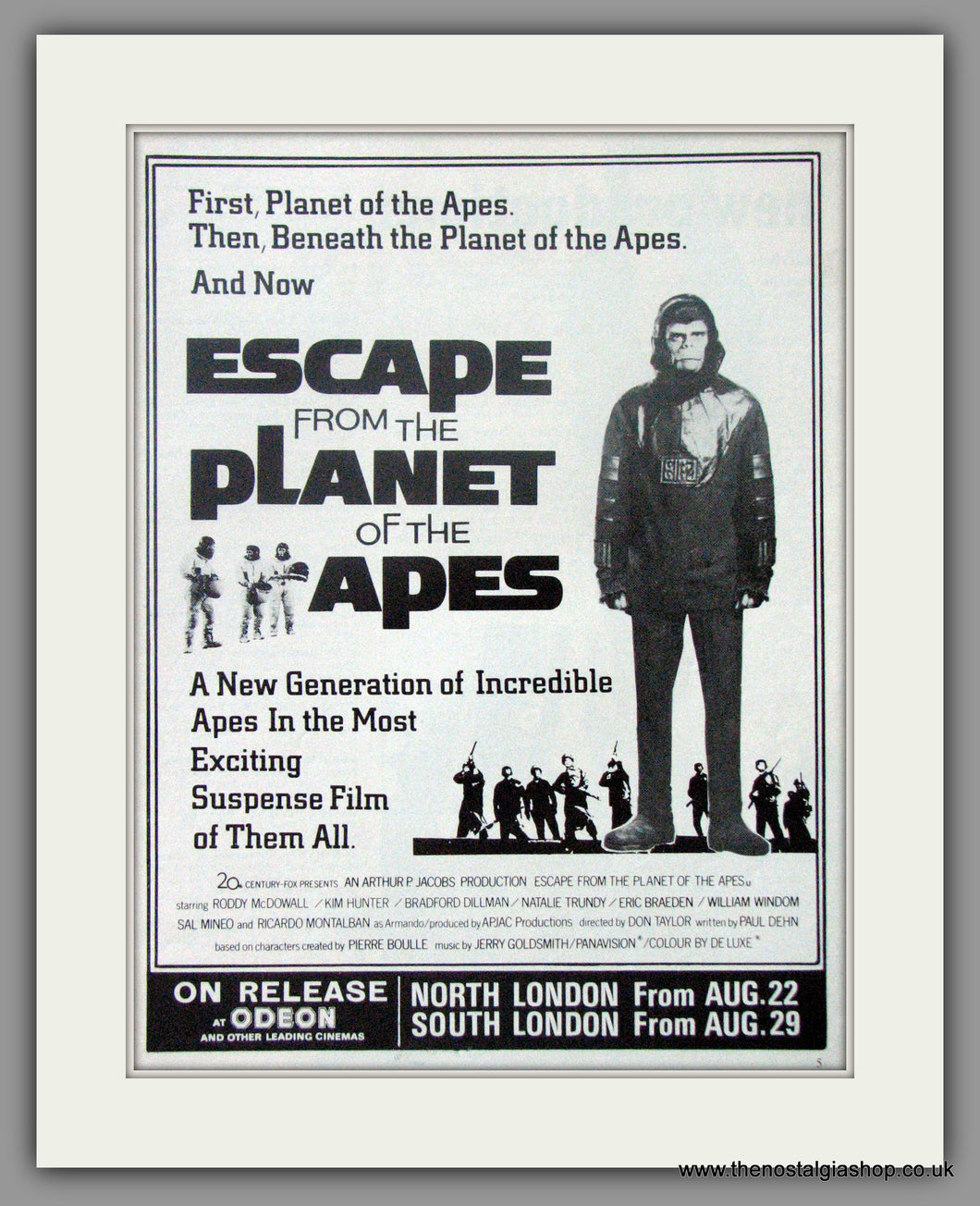 Escape From The Planet Of The Apes. Original Advert 1971 advert (AD50713)