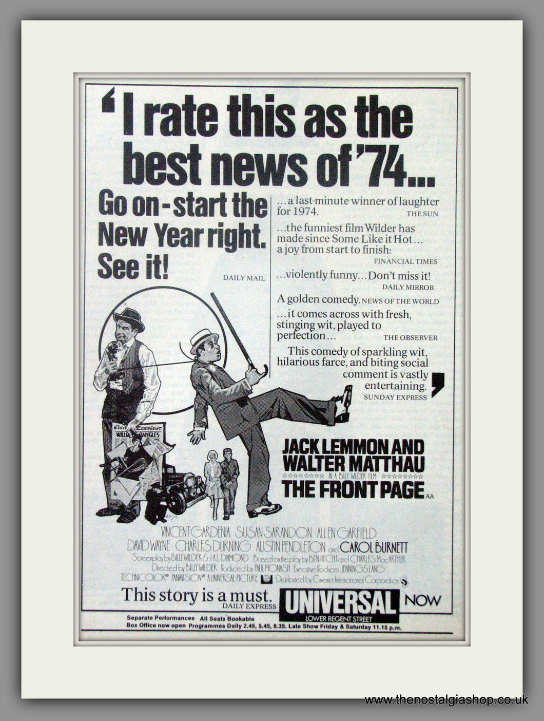 Front Page (The). Original Advert 1975  (AD50754)