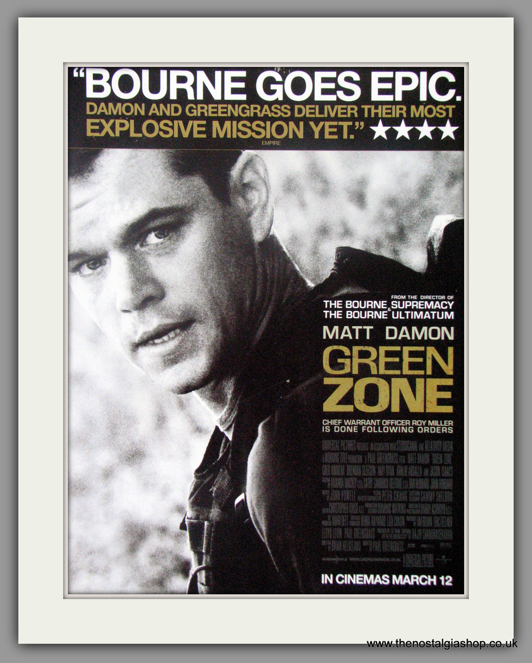 Green Zone. Original Advert 2010 (ref AD50797)