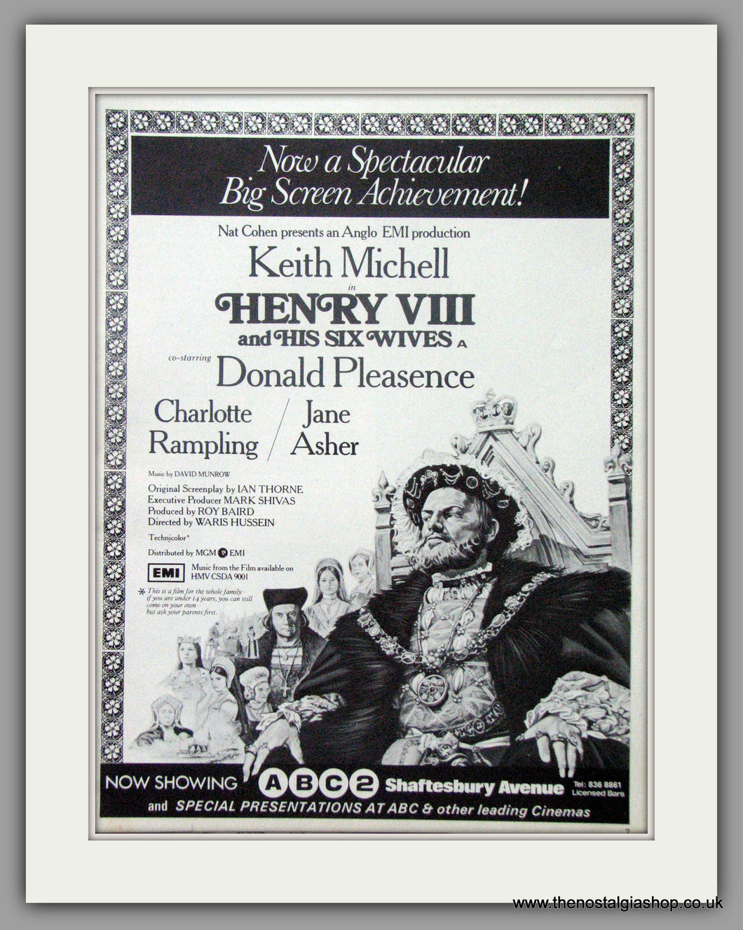 Henry VIII And His Six Wives. Vintage Advert 1972 (ref AD50857)