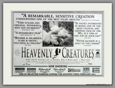 Heavenly Creatures. Vintage Advert 1995  (ref AD50861)