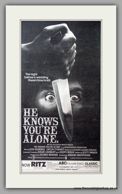 He Knows You're Alone. Vintage Advert 1980  (ref AD50863)