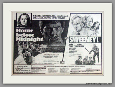 Home Before Midnight & Sweeney. Vintage Advert 1979  (ref AD50865)