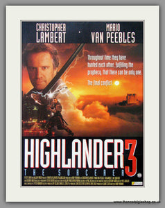 Highlander 3 The Sorcerer. Vintage Advert 1994  (ref AD50867)