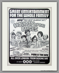 Holiday On The Buses. Vintage Advert 1974  (ref AD50869)