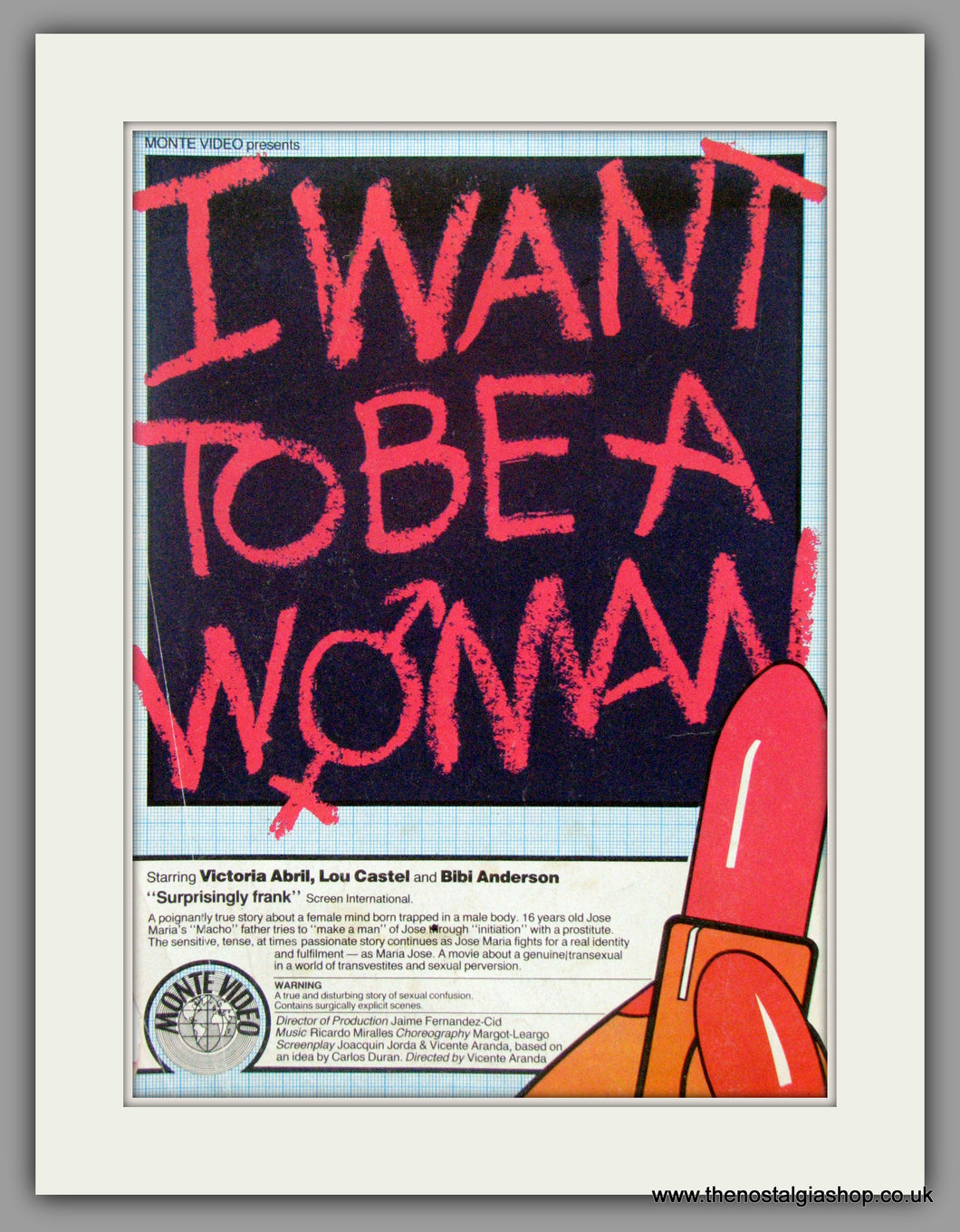 I Want To Be A Woman. Vintage Advert 1982  (ref AD50870)