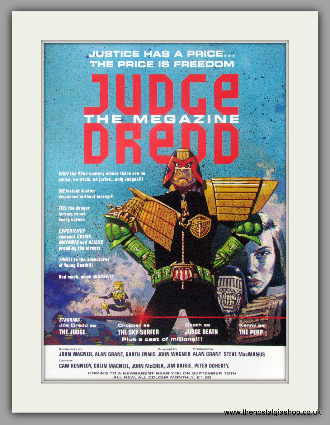 Judge Dread The Megazine. Original Advert 1990 (ref AD50939)