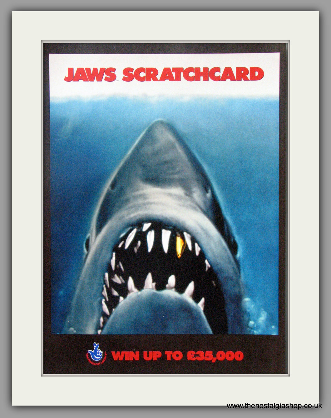 Jaws Scratchcard. Original Advert 2004 (ref AD50943)
