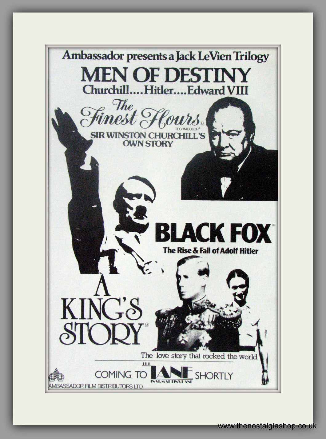 King's Story (A). Original Advert 1982 (ref AD50948)