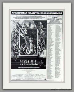Krull. Original Advert 1984 (ref AD50954)