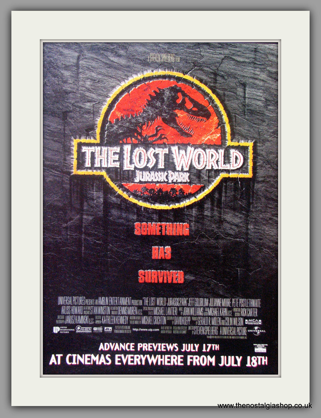 Lost World (The) Jurassic Park. Vintage Advert 1997 (ref AD51145)