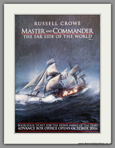Master And Commander The Far Side Of The World. Set Of 2 Vintage Adverts 2003 (ref AD51233)