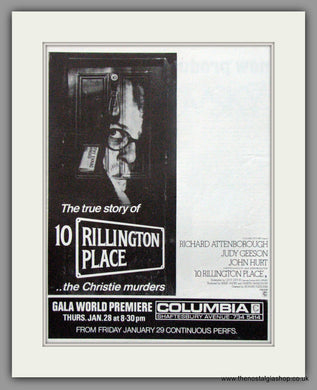 10 Rillington Place. Original Advert 1971 (ref AD51792)