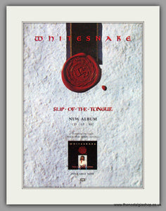 Whitesnake. Slip Of The Tongue. 1989 Original Advert (ref AD50999)