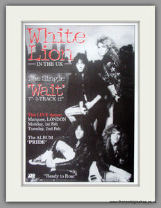 White Lion. Wait. 1987 Original Advert (ref AD51173)