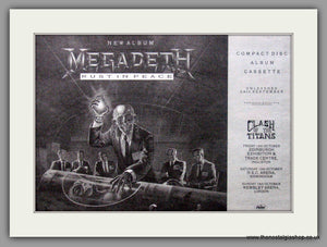 Megadeth. Rust in Peace. 1990 Original Advert (ref AD50839)