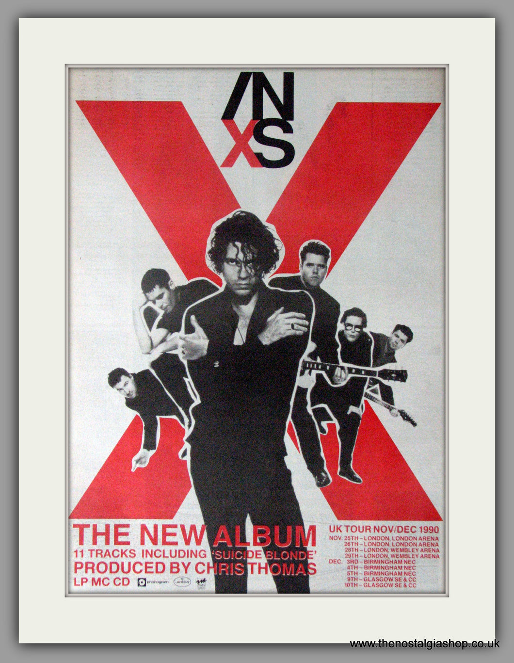 INXS New Album and Tour. Vintage Advert 1990 (ref AD11195)
