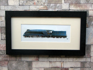 A4 Pacific Mallard No. 4468. Framed Railway Print.