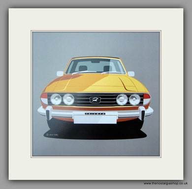 Triumph Stag. Mounted print.
