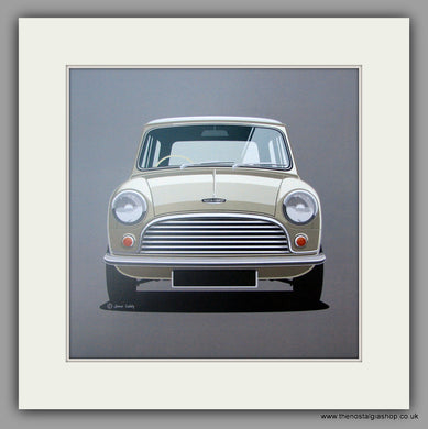 Mini. Austin Cooper S. Mounted print.