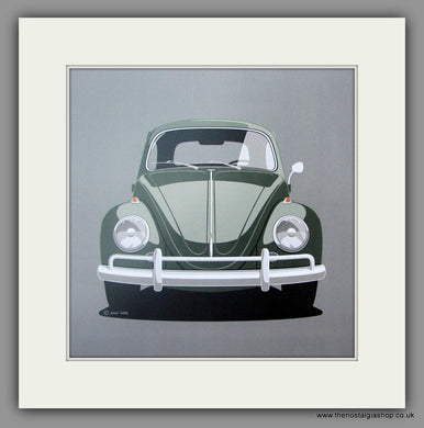 VW Beetle. Mounted print.
