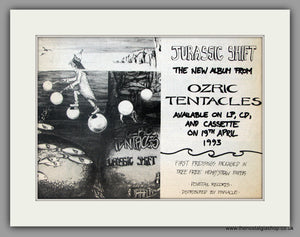 Ozric Tentacles. Jurassic Shift. Vintage Advert 1993 (ref AD51107)