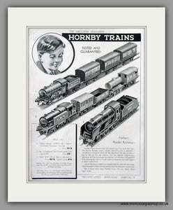 Hornby Trains. Original Advert 1938 (ref AD51046)