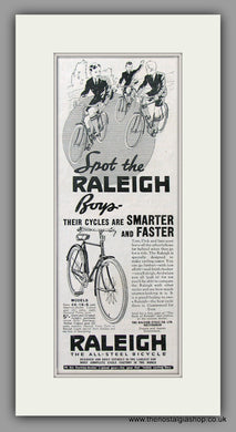 Raleigh Bicycles for Boys. Original Advert 1938 (ref AD51045)