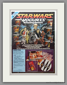Star Wars Yogurts in 8 Flavours. Original Advert 1984 (ref AD51050)