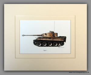 Tiger 1 German Tank Mounted Print