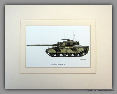 Chieftain MBT Mk 3 British Tank. Mounted Print
